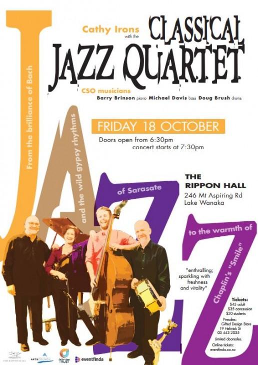 Classical Jazz Quartet Concert Poster